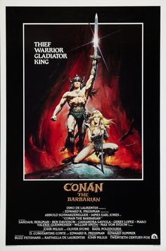 Click to View Extra Large Poster Image for Conan the Barbarian Best Movie Posters, Original Movie Posters, Movie Poster Art, Poster Poster, Conan The Barbarian Movie, Conan Der Barbar, Blind Test, Sword And Sorcery, Fantasy Movies