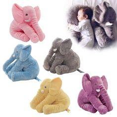 26573e562a4 1pc 60cm Fashion Baby Animal Plush Elephant Doll Stuffed Elephant Plush  Pillow Kids Toy Children Room