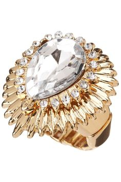 Stone and Stretch Ring in Gold and Crystal from Colette (AUD $8.95).