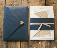 Katie Noel » Gold & Navy Wedding Invites