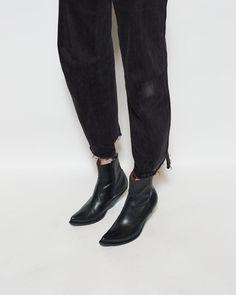 VETEMENTS   Slant Heel Boot   Shop at La Garçonne