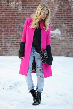 Trend+Report:+The+Pink+Coat+Takes+Over+Fashion+Week+via+@WhoWhatWear