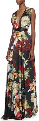 Alice + Olivia Triss Floral-Print Sleeveless Maxi Dress | #Chic Only #Glamour Always