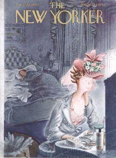 New Yorker cover Alajalov early Easter bonnet 4/20 1946