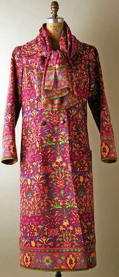 Coat  Yves Saint Laurent, Paris (French, founded 1962)  Designer: Yves Saint Laurent (French (born Algeria) Oran 1936–2008 Paris) Date: 1969–70 Culture: French Medium: wool