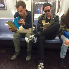 Reading on the subway