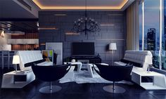 No blog >> 5 tecnologias para a decoração de sala de estar #decoração #homedecor #salas #fastshop
