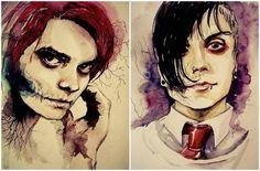 Frank and Gerard Way watercolor