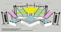 Habeco Music Festival – Stage Design on Behance - Event Stage Lighting Design, Stage Set Design, Set Design Theatre, Lighting Concepts, Booth Design, Exhibition Stand Design, Exhibition Booth, Dark Fantasy Art, Royal Ballet
