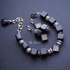 Комплект : браслет и серьги из Агата