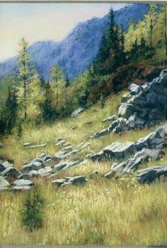 Oil Pastel Landscapes | Pastel Landscapes - AnnetteHannaFineArt