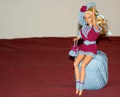 Moje pasje ...: Różowo-niebieska sukieneczka z dodatkami