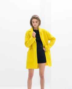 The giant pockets alone made me swoon. So yellow but also just beautifully bold. ZARA - TRF - BLAZER COAT WITH SLIT