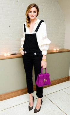 Olivia Palermo style, dungarees