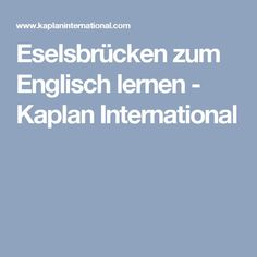 Donkey bridges to learn English - Kaplan International - science elementary English Tips, English Words, English Lessons, English Grammar, Teaching English, Learn English For Free, Improve Your English, Elementary Science, Home Schooling