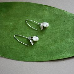 Sterling Petal Lilly of the Valley Earrings by lsad on Etsy, $28.00
