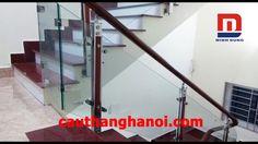 Cầu thang kính Gao Bao trụ hộp vuông 10x60 thi công tại Hưng Yên