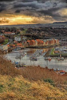 River Esk, Whitby, North Yorkshire, England, UK