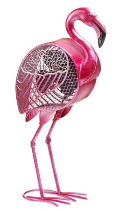 Electric Circulating Pink Flamingo Fan Fashion meets function with this Electric Circulating Pink Flamingo Fan from DecoBREEZE. This charming and whimsical Pink Flamingo figurine fan will brighten your day while keeping you cool.