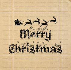 Merry Christmas Sign Digital Christmas Text by SimplyGraphicStore