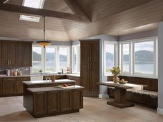A fresh new look for Oak with warm undertones (Sedona Oak Saddle finish). Not your mother's kitchen.