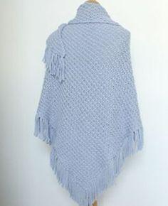 leuke omslagdoek gebreid in dubbele gerstekorrel, lekker voor de aankomende herfst.