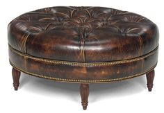 The+Kearney+Ottoman+is+offered+in+hundreds+of+leather+options+and+includes+a+standard+nailhead+trim+#9+in+natural+finish.++Other+decorative+nailhead+finishes+are+available.