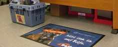 Patio advertising Mats by Kleen-Tex. Providing cost effective advertising without compromise on quality! #admat