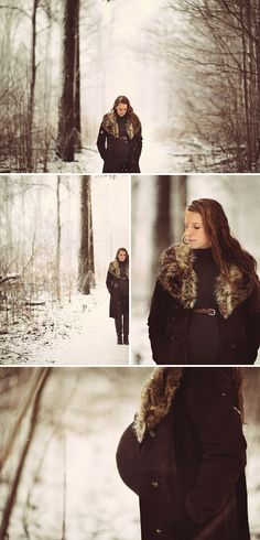 winter maternity photo shoot