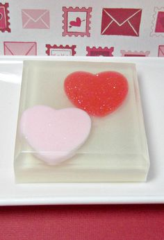 #SFetsyCrush - Valentines Soap  Strawberries and Cream  by @asliceofdelight #xoxoSFetsy