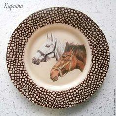 """Тарелки ручной работы. Ярмарка Мастеров - ручная работа Тарелка """"Лошадки"""". Handmade."""