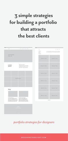 3 simple strategies for managing your portfolio - Designing to Delight Portfolio Strategy, Portfolio Logo, Portfolio Layout, Creative Portfolio, Portfolio Design, Portfolio Ideas, Portfolio Professional, Business Design, Creative Business