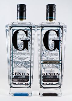 Packaging of Genius Gin. A Smart Way to Drink Gin | Texas Monthly
