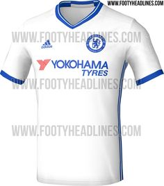 e916e3981 The new Chelsea 16-17 third kit will be white and blue