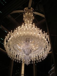 Large Baccarat Crystal Chandelier