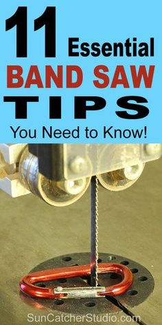 How to use a bandsaw. Including tips on band saw safety maintenance blade tension bearings throat plate and minimum cutting radius.