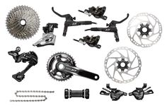 Shimano XT 2x11-speed M8000 Groupset incl. Disc Brakes+Rotors | MTB Gearshift Groups Shop