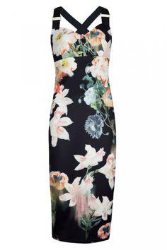 ef8321d66bb9c5 Opulent bloom print dress - Black