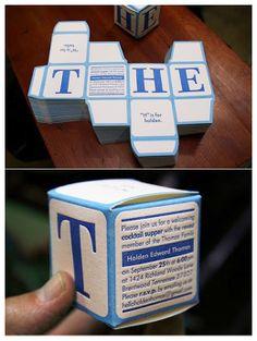 Faire-part de naissance original: Faire-part en cube