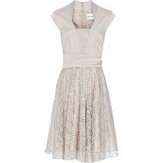 Reiss Nerissa V-Neck Flared Skirt Dress ($108) ❤ liked on Polyvore