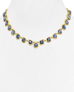 "Alexis Bittar V-Shaped Pear Bezel Necklace, 15""   Bloomingdale's"