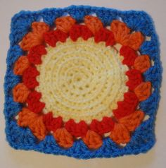 Ravelry: Project Gallery for Spiral Mandala Square .1 pattern by Rowena The Buddhist
