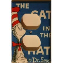 "Dr. Seuss Outlet Covers. The Magic of ""Mama"": More playroom decorationg."