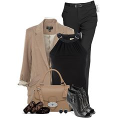 Black and Tan!, created by pinkroseten on Polyvore