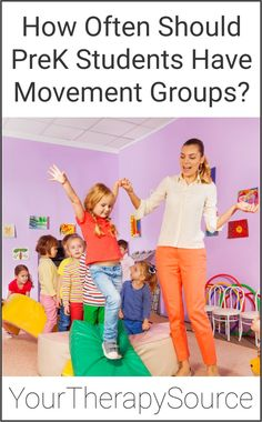 School-based occupational and physical therapists frequently recommend and educate PreK teachers on the benefits of motor skill activities throughout the day. An important question to answer is how often should preK students have movement groups? Motor Skills Activities, Gross Motor Skills, Group Activities, Physical Activities, Pediatric Occupational Therapy, Parents As Teachers, Pediatrics, Fun Workouts, Preschool