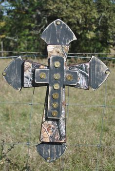 Large Black/ Real Tree Camo Wall Cross.