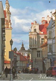 Beautiful Travel Postcard: Vilnius (Lithuania)