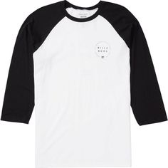 Billabong Unisex Around Long Sleeve Tee ($27) ❤ liked on Polyvore featuring tops, t-shirts, clothing - long sleeved tops, t-shirt/prints, crew neck t shirt, screen print t shirts, white long sleeve t shirt, long sleeve graphic t shirts and long sleeve tees