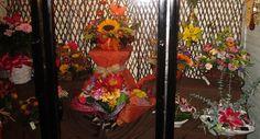 Fall Flower Arrangements in our Cooler! http://www.winfieldflorist.com/flower-by-occasion-autumn-flowers/ #WinfieldFlowerShoppe #FallFlowers