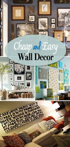 Inexpensive Decorating Ideas 60 budget-friendly diy large wall decor ideas | engineer prints